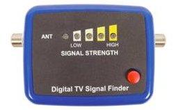 Digital TV aerial signal strength meter