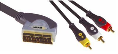 SCART Plug to 3 Phono Plugs