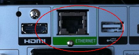 Sky+ HD Box Ethernet Socket
